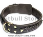 Leather dog collar 20 inch up to 28 inch neck size (50 cm-72cm)