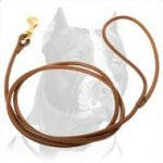 Thin Leather Leash perfect for Dog Shows