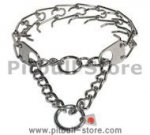 "Medium stainless steel collar 23"" for Pitbull"