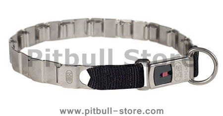 24 inch STAINLESS STEEL Sprenger dog collar NECK TECH COLLAR for Pitbull