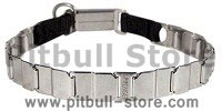 "FUN-19"" STAINLESS STEEL dog collar NECK TECH COLLAR for Pitbull"