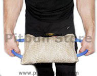 Dog bite pad made of jute with 3 handles - Jute Bite Pillow
