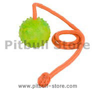 K9 Ball with Rope-Activity Dog Toy for Pitbull