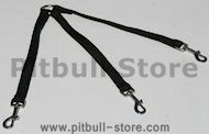 Triple dpg leash nylon coupler for walking 3 dogs - LN103