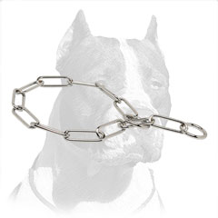 Chromium Plated Pit Bull Dog Choke Chain Collar