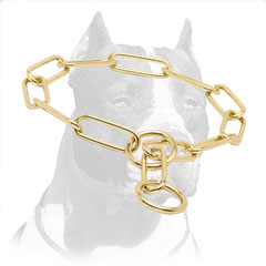 'Chain Trainer' Pitbull Dog Choke Collar Made of Brass