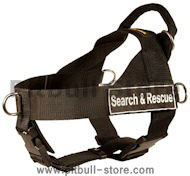 SAR Dog Harness for PITBULL-Search & Rescue NYLON DOG HARNESS