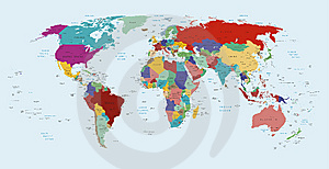 political map of the world