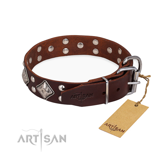 Daily leather collar for your favourite pet