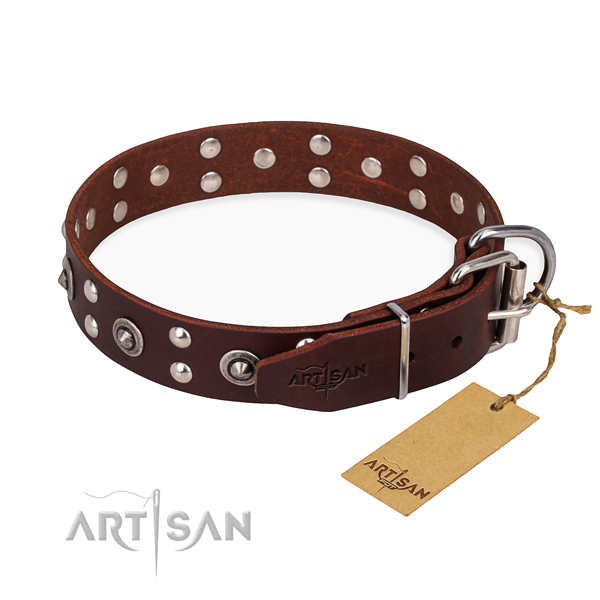 Stylish leather collar for your favourite canine