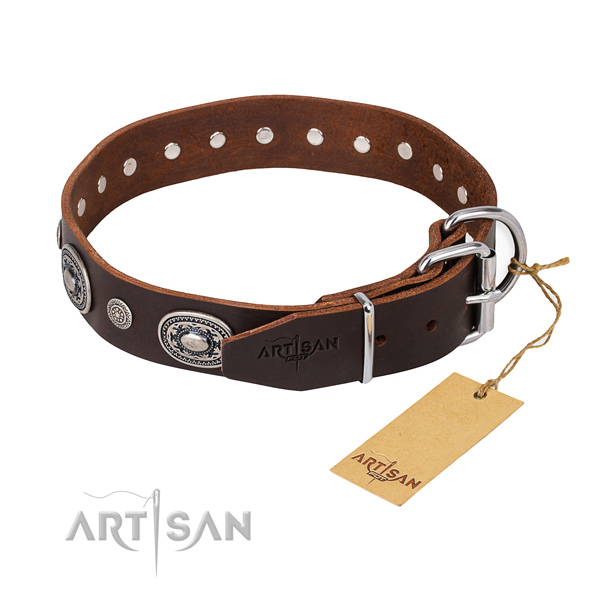 Wear-proof leather collar for your darling pet
