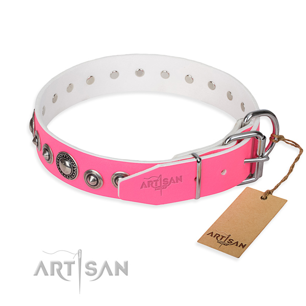Multifunctional leather collar for your noble pet
