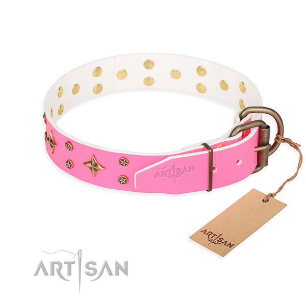 Tear-proof leather collar for your beloved four-legged friend