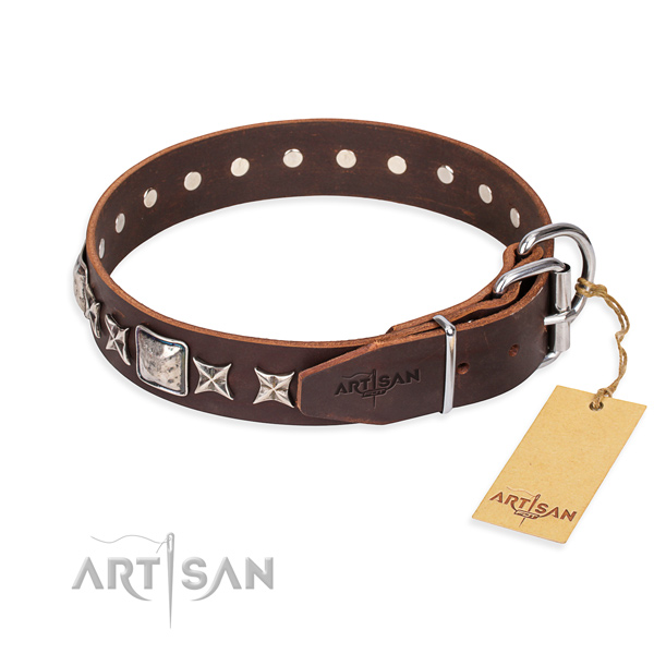 Multifunctional leather collar for your darling pet
