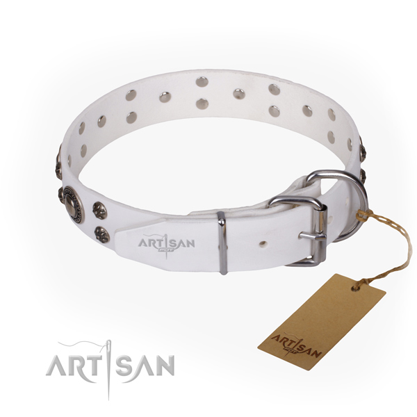 Functional leather collar for your handsome pet