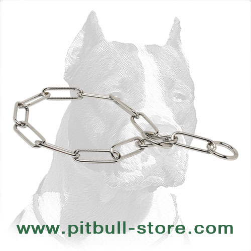 Pit Bull dog fur saver choke collar