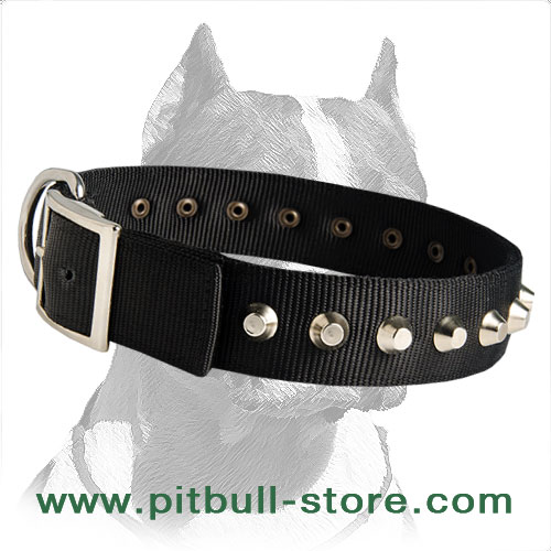 Extra Strong Nylon Dog Collar with Studs