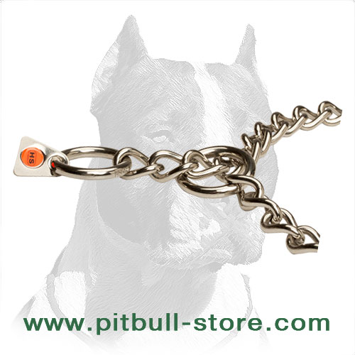 Dog choke collar of stainles steel