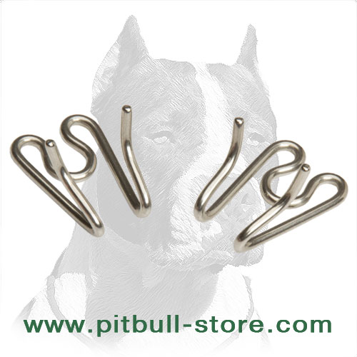 Pitbull prong collar's link, rustproof