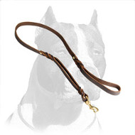 Hand-Braided Pitbull Dog Leash of Full Grain Latigo Leather