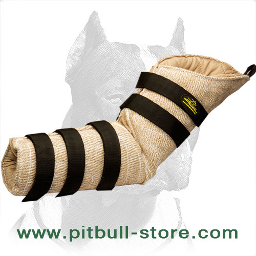 Hidden dog sleeve for Pitbull   to build proper grip