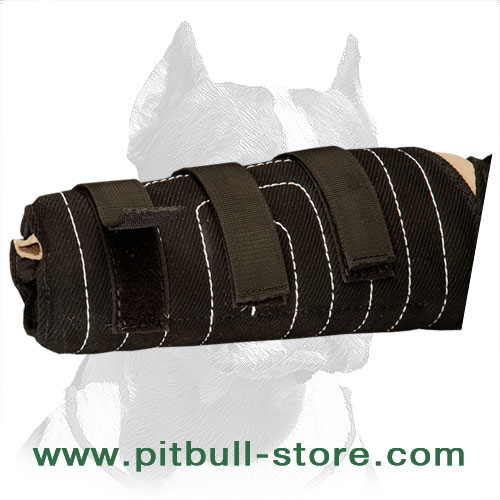 Hidden dog sleeve for Pitbulls for better grip and educating protective skills