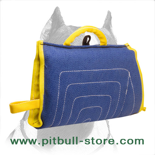 Sleeve for Pitbull puppy with two handles and D-ring