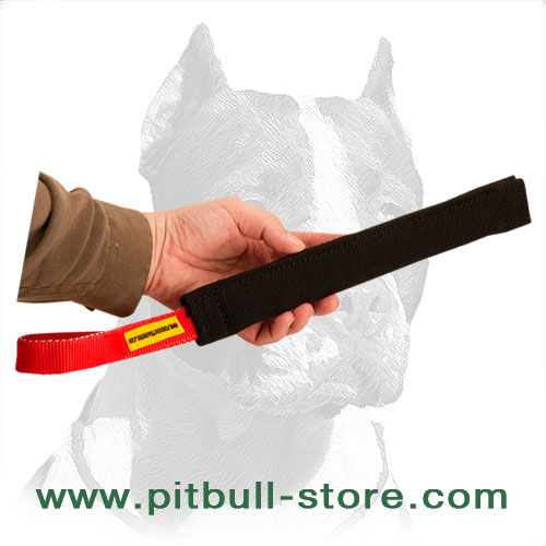 Lightweight French linen dog bite training tug