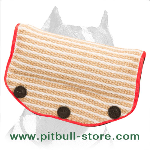 Pitbull jute bite builder with 3 hard handles
