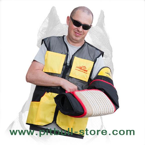 Pitbull training sleeve with jute cover included in price