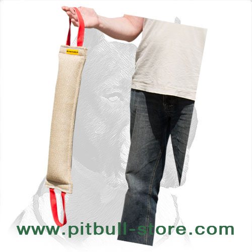 Pitbull jute training tug for bite development