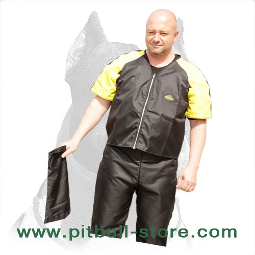 Nylon jacket and pants with zippers