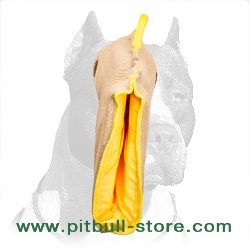 Jute puppy sleeve for Pitbulls, soft material from inside