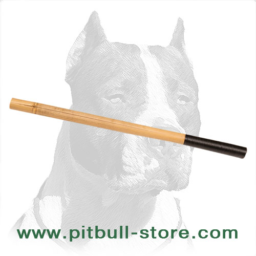 Bamboo stick for Pitbull agitation     training