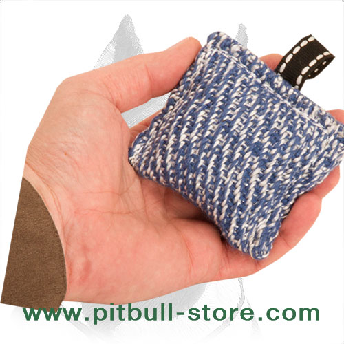 Pocket-sized bite pad for Pitbull puppy     training