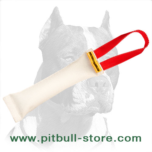 Pitbull training dog bite tug made of fire hose