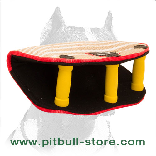 Strong bite builder for Pitbulls made of     jute material