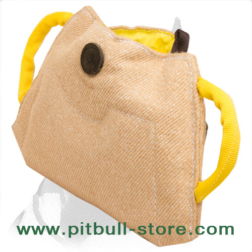Bite Builder for young Pitbulls with handles of Jute