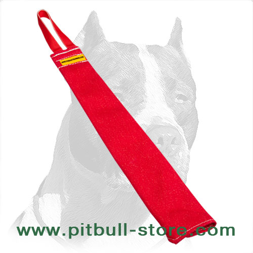 Pitbull training bite rag of French linen material