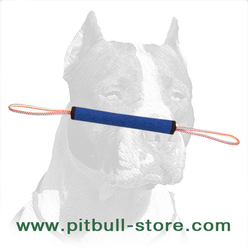 Dog training bite roll with 2 loops