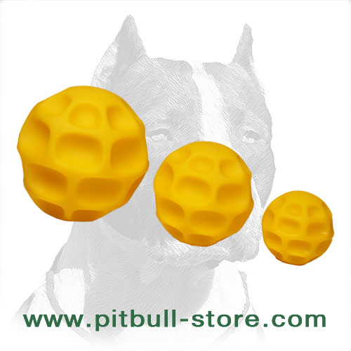 Dog balls of tetraflex for treats dispensing