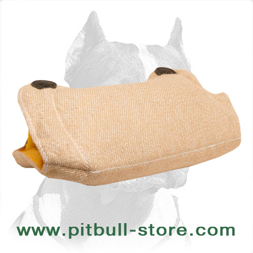 Pitbull bite builder of Jute material with 2 hard handles from inside