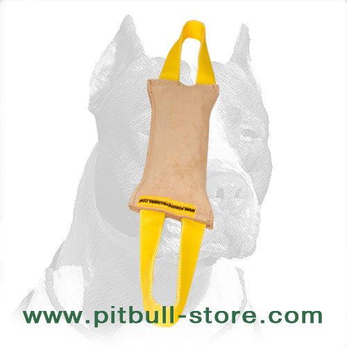 Firmly stitched Pitbull dog bite training tug