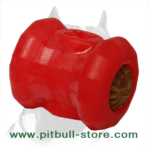 Dog chew toy for Pitbull of foam rubber