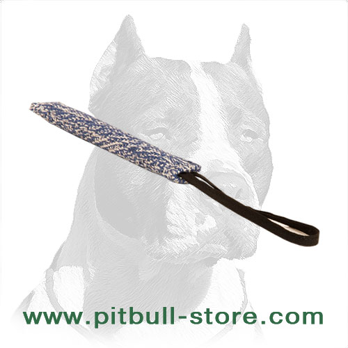 Narrow bite tug of French linen for dog training