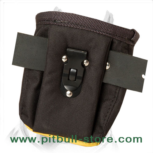 Nylon pouch for treats with special clip