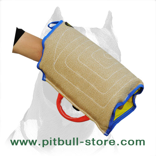 Dog training sleeve of jute material