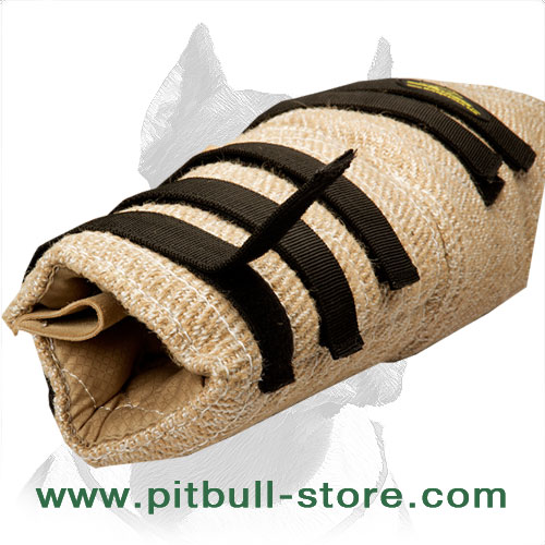 Professional Pitbull hidden sleeve made of jute material