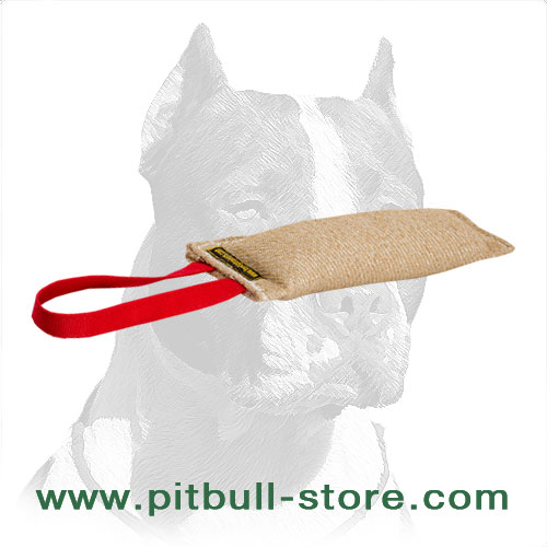 Eco-friendly stuffed dog bite training tug