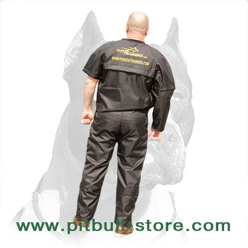 Pitbull scratch jacket and pants with double Velcro Closure